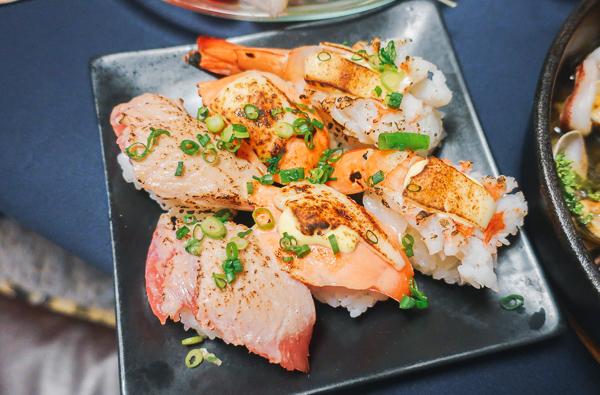 3種の炙り寿司