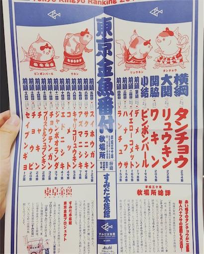すみだ水族館東京金魚番付