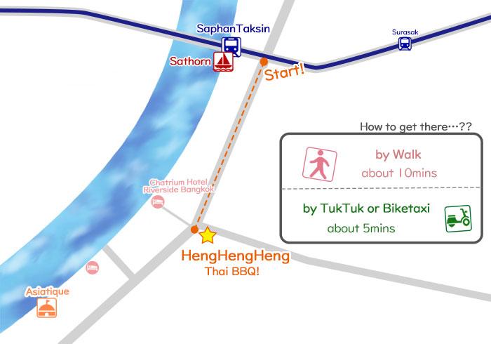 how to get to thaiBBQ HengHengHeng