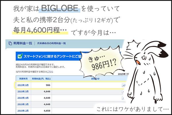 BIGLOBE携帯料金