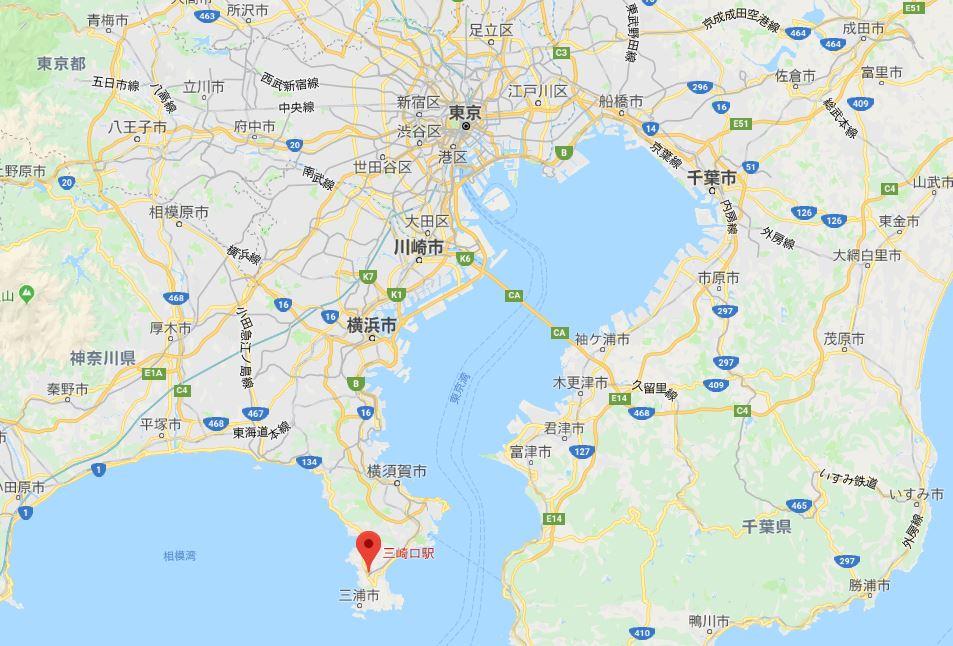三崎口駅場所地図