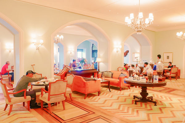 High tea at the long for Taj Mahal Hotel