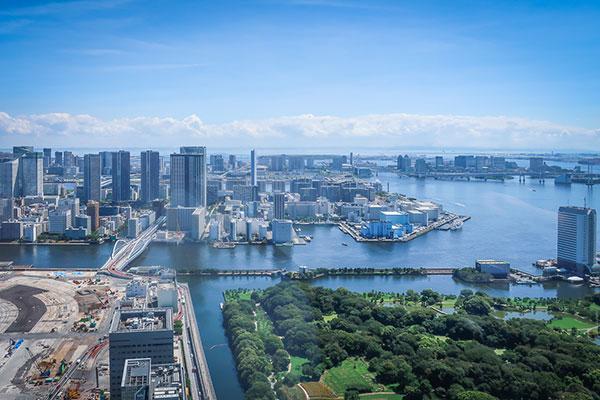 カレッタ汐留46階展望台からの眺め