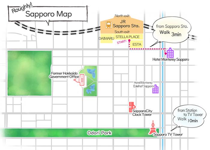 Hotel Monterey Sapporo Access map