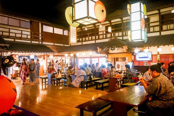 大江戸温泉物語テーブル広間