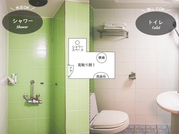 ヒルハウスホテルシャワールームトイレ