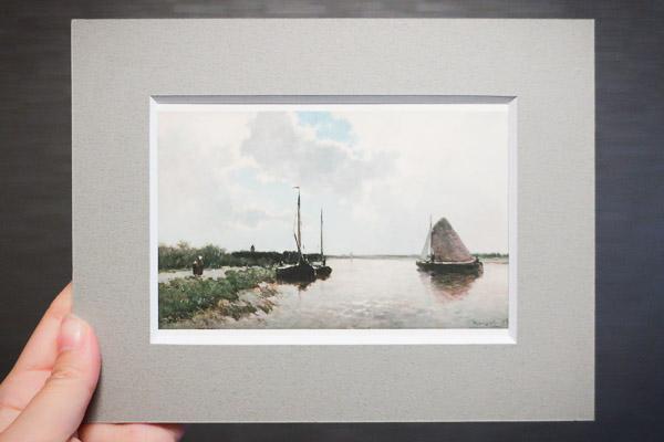 『黄褐色の帆の船』ヤン・ヘンドリック・ウェイセンブルフ