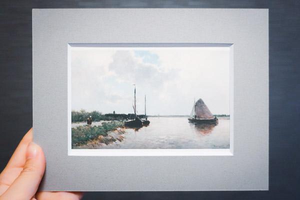 ポストカード『黄褐色の帆の船』
