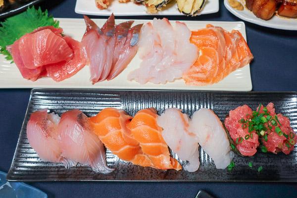 良い夫婦の日ディナーお造りと寿司
