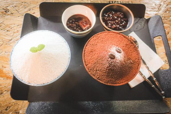 東大門北海氷水ミルク&小豆と珈琲ピンス