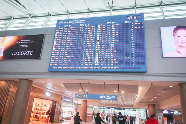 仁川空港第一ターミナル内