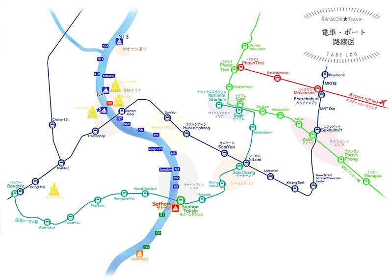2019バンコク路線図路図ダウンロードフリー