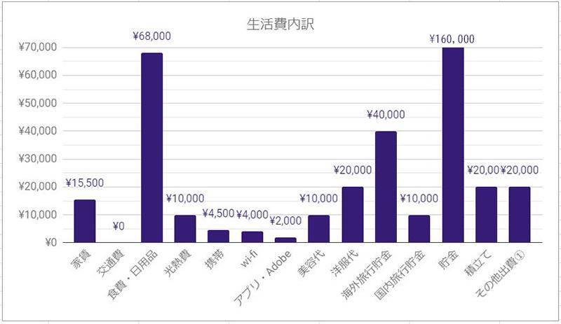 2019年12月都内DINKS家計簿図