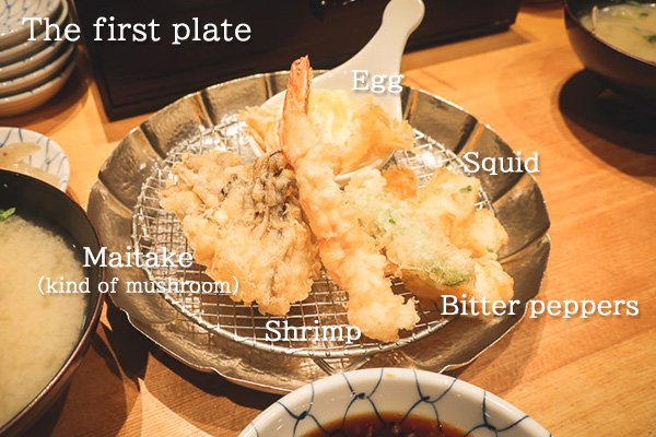 Kanekohannosuke Tempura The First plate