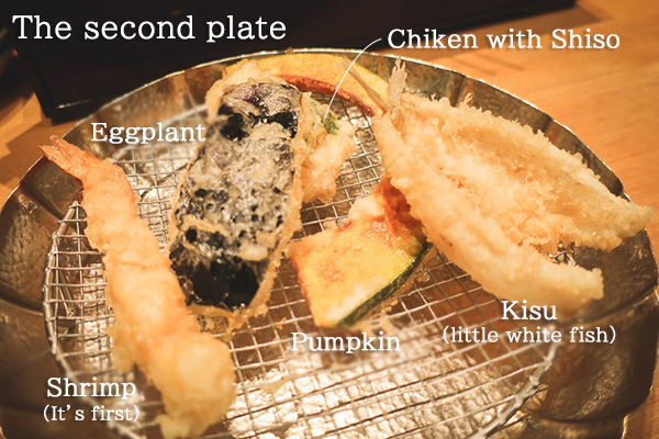 Kanekohannosuke Tempura The second plate