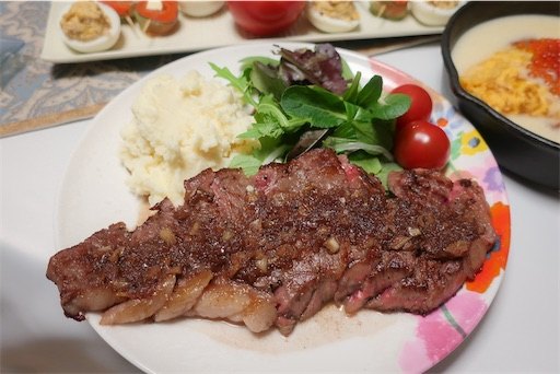 瑞穂牛のステーキ