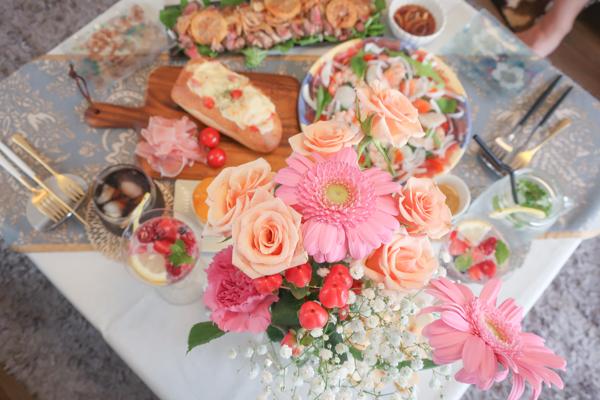 誕生日パーティー花束