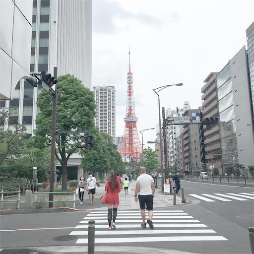 三田から見る東京タワー