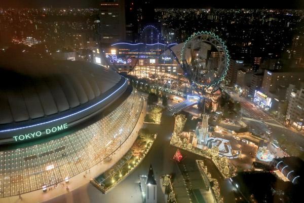 東京ドームホテルから見た東京ドームシティ