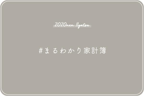 【2020年11月まるわかり家計簿】手取りと累計貯蓄額を公開!