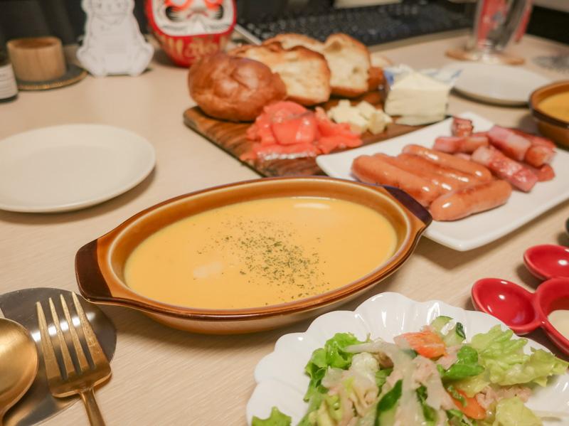 かぼちゃスープとおつまみ