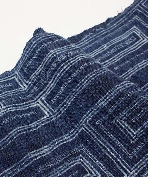 モン族藍染めヘンプ古布