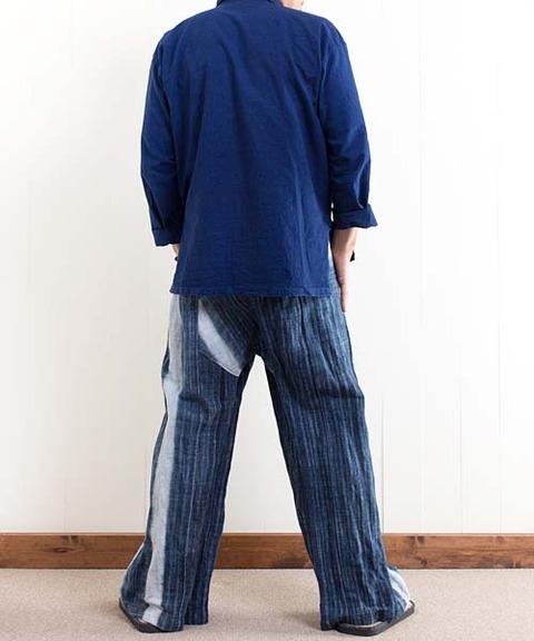 藍染めヘンプタイパンツ
