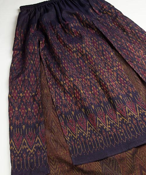 マドミーオールドタイシルクの2枚重ねスカート