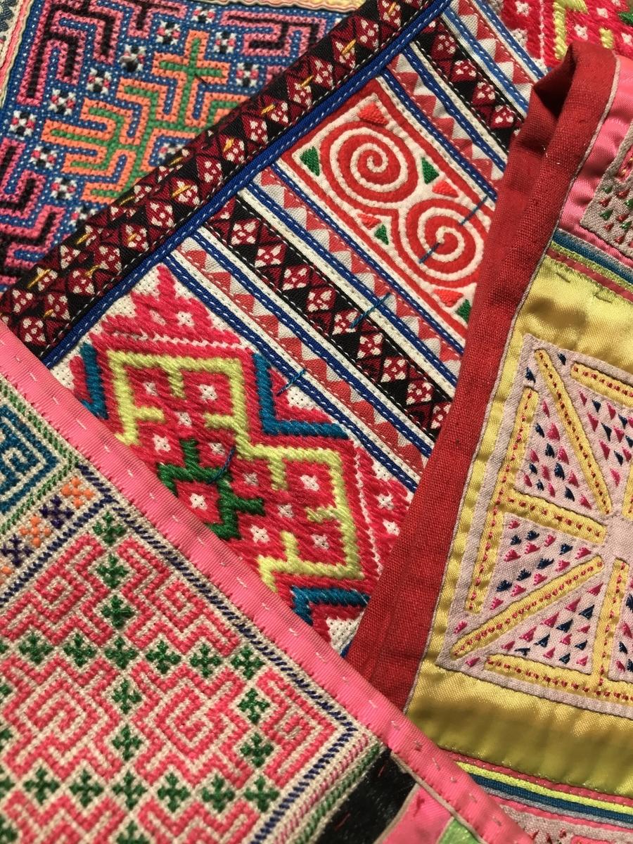 モン族刺繍古布