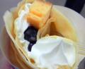 ブルーベリーチーズケーキカスタードホイップ(クレープ) / 500円