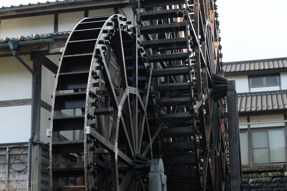 道の駅「東山道 伊王野」の巨大水車