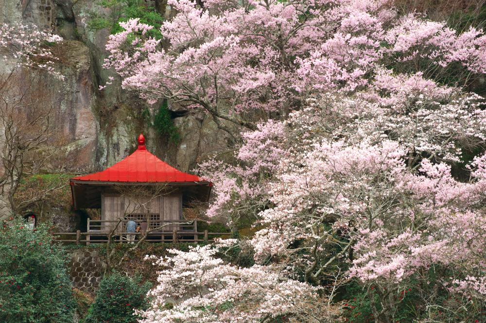 栃木県那須町芦野「堂の下の岩観音」
