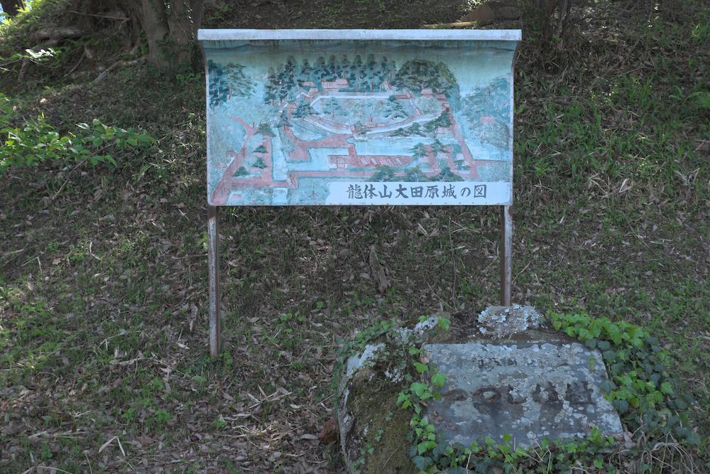 大田原城址公園(古い案内板)