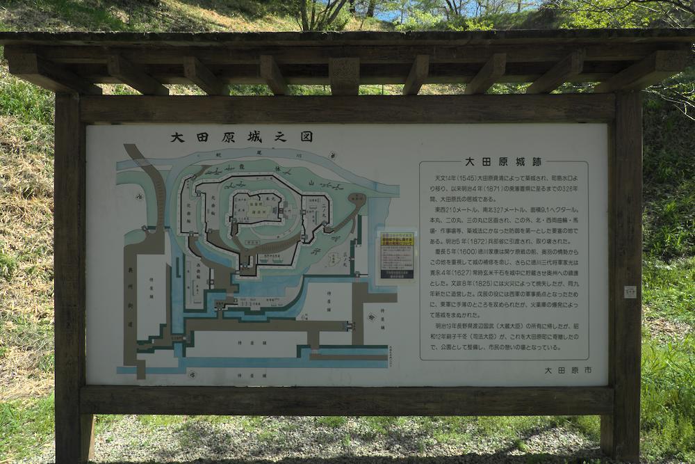 大田原城址公園(新しい案内板)