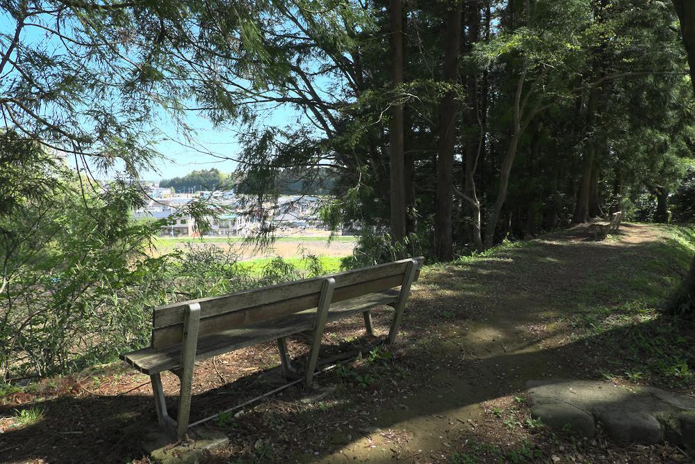 大田原城址公園(北側の眺め)