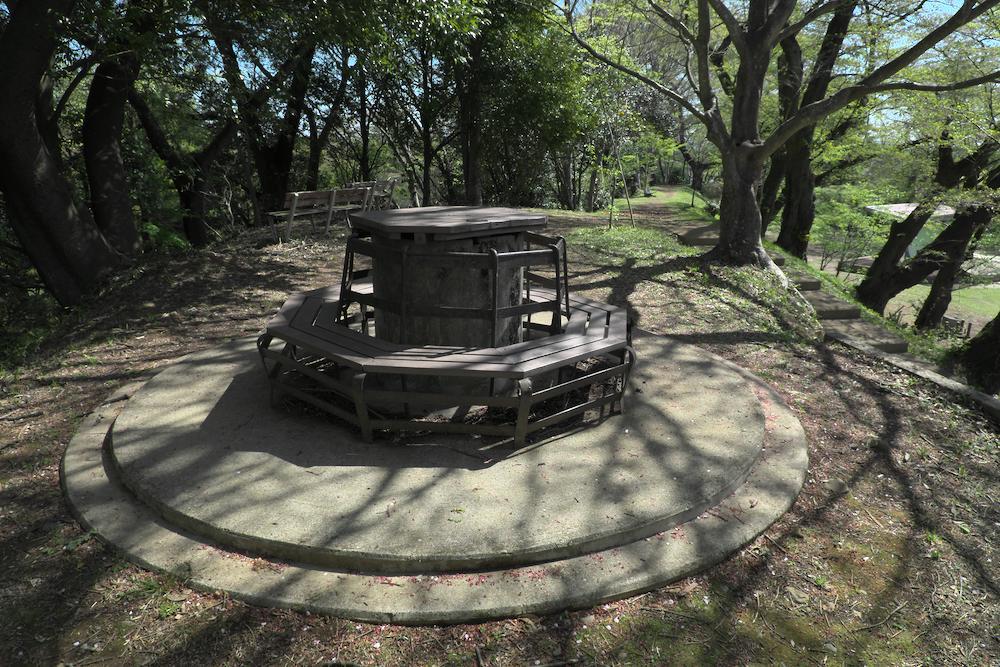 大田原城址公園(ベンチ)