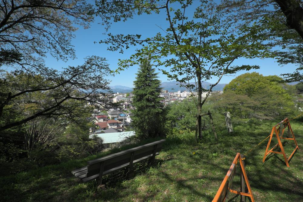 大田原城址公園(東側の眺め)
