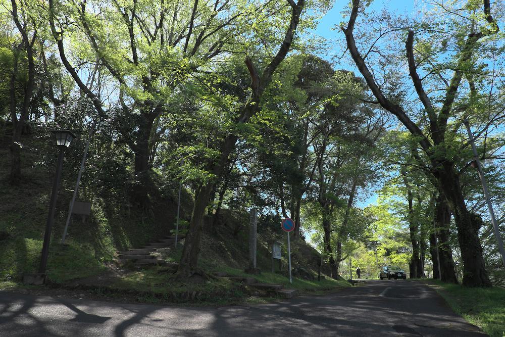 大田原城址公園にて
