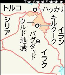 トルコ・イラク国境の地図