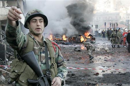 レバノンのテロ現場