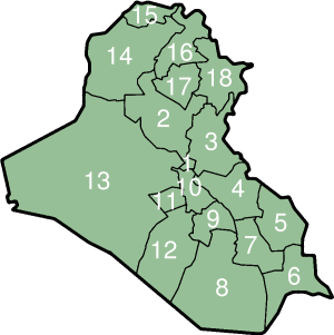 Wikipediaのイラクの地図