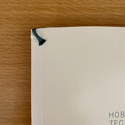 ほぼ日手帳に無印良品「しおりシール」を貼り付け