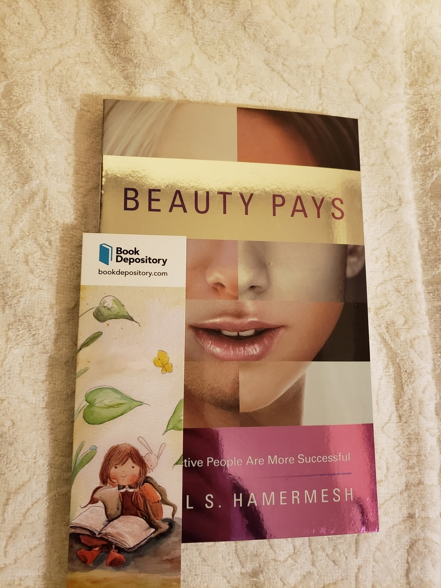 Book Depository,洋書,ペーパーバック,paperback,beauty pays,hamermesh,princeton,栞,bookmark,
