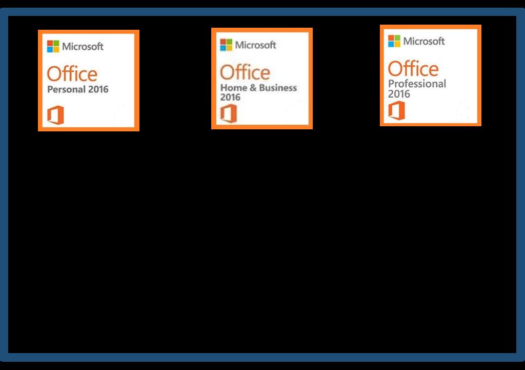Office 2016の機能と価格比較