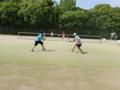試合風景(手前:左から宮本さん、三浦さん、奥:左から永谷さん、丸山)