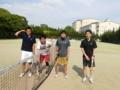 試合後(左から原田さん、斎藤さん、加藤さん、陵木さん)