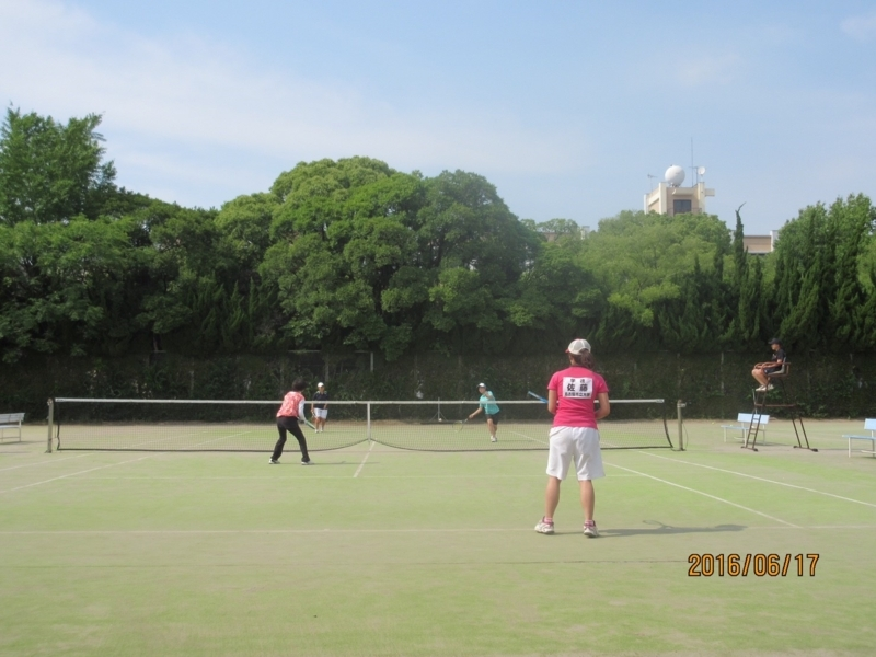 試合風景(手前から佐藤、鹿鳥さん、蔵田、本田)