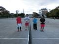 試合後(左から山本さん、齋藤さん、宮本さん、岩井)