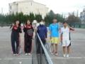 試合後(左から中津原さん、野々山さん、茗荷さん、沙恵さん、永見)
