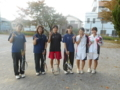 試合後(左から松原さん、伊藤さん、上永、前田さん、大角、田中)